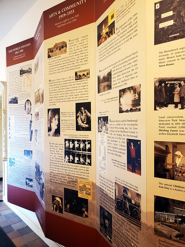Board of local historical events in chronological order