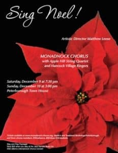 Sing Noel Poster with poinsettia