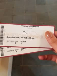 Two play tickets